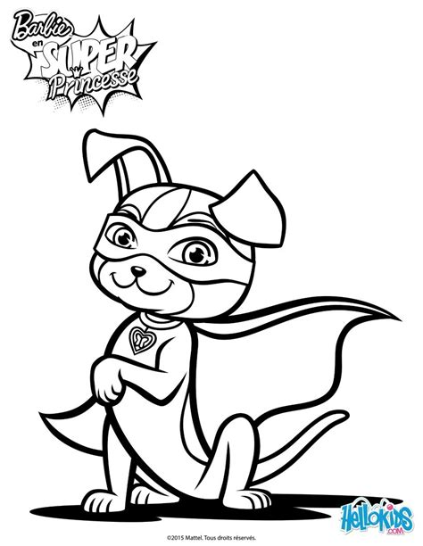 super barbie coloring page barbie super power magical dog coloring pages hellokids com
