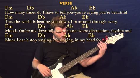 tutorial guitar of all of me all of me john legend bass guitar cover lesson with