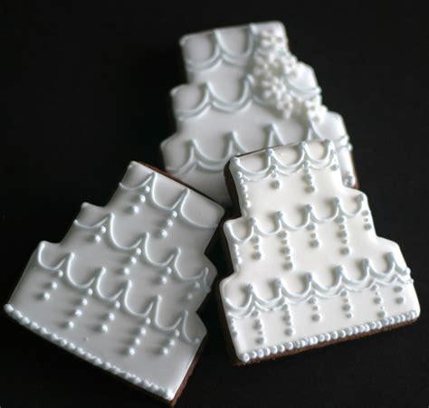 Wedding Cake Cookies by Wedding Cake Cookies Favors Custom Design By Pinklittlecake