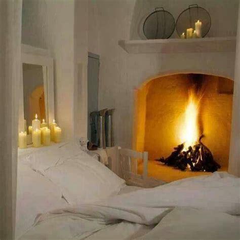 Bedroom romantic fireplace home decor pinterest