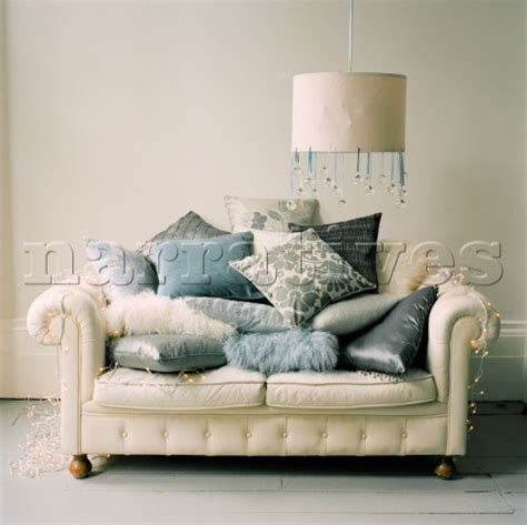 Chesterfield Sofa Cushions El0368 White Leather Chesterfield Sofa Piles With C Narratives Photo Agency