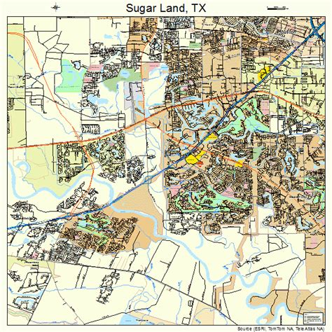 sugar land map 4870808