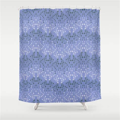 Isabella Periwinkle Blue Shower Curtain Contemporary