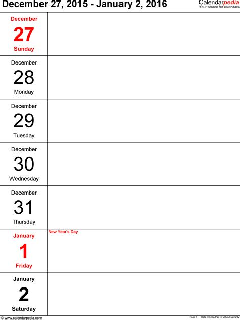 template free weekly schedule templates for excel 18 templates