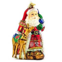 5 25 quot nordic santa old world christmas glass ornament