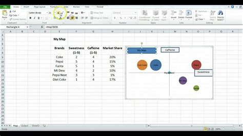 How To Make A Perceptual Map Using Excel Youtube Strategy Map Template Excel