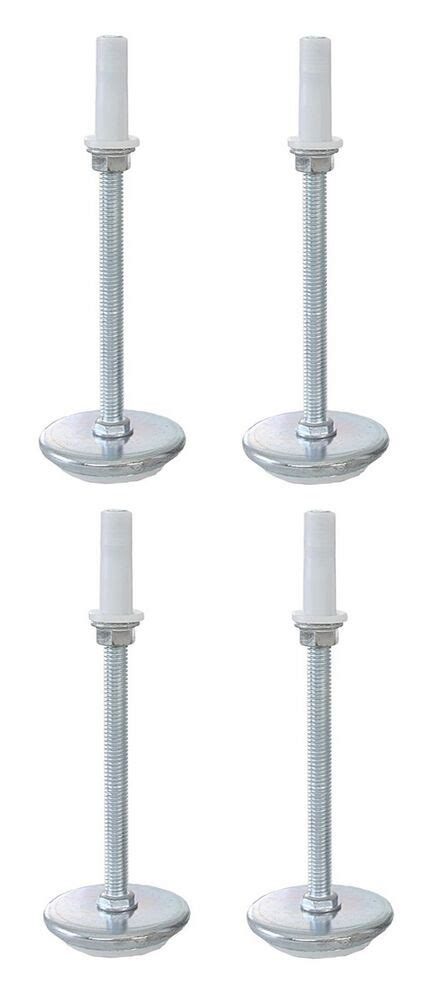 universal 5 quot adjustable height bed frame risers threaded glides legs set of 4 ebay