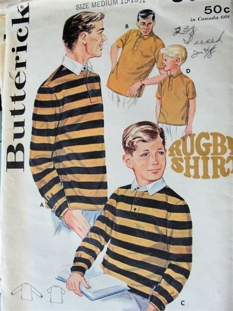 pattern for rugby shirt 1960s boys rugby shirt pattern butterick 3089