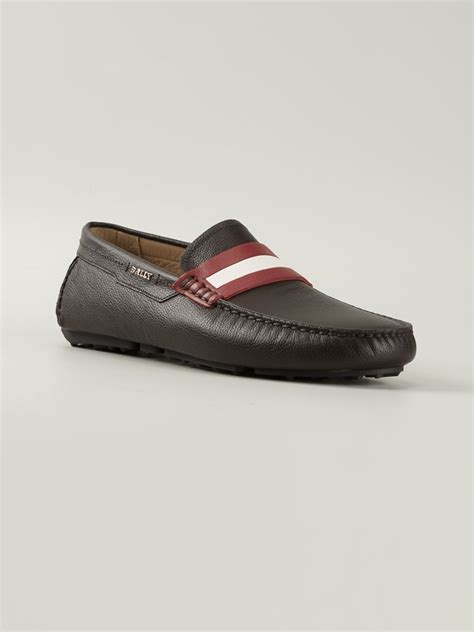 bally slippers bally dracon driving shoes in brown for lyst