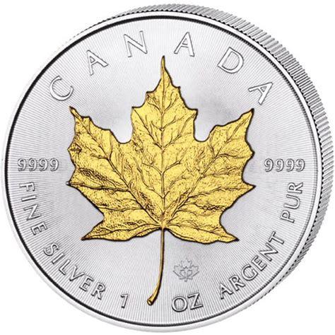 1 oz 2016 canadian maple leaf silver coin buy 2016 1 oz silver canadian maple leaf gilded coins