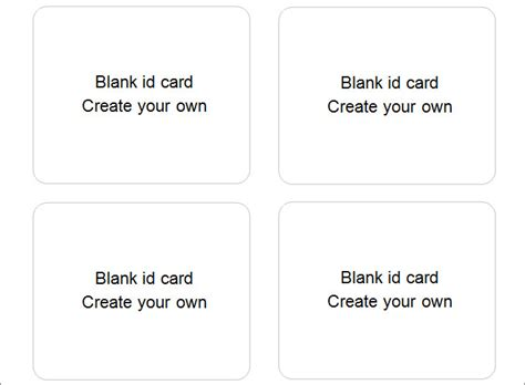 Create Your Own Card Template by 30 Blank Id Card Templates Free Word Psd Eps Formats