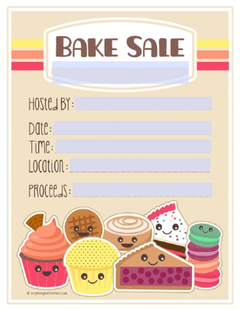 Free Bake Sale Flyer Templates free printable bake sale flyer template