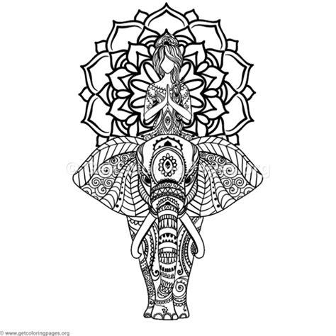 elephant yoga coloring page yoga and elephant mandala coloring pages