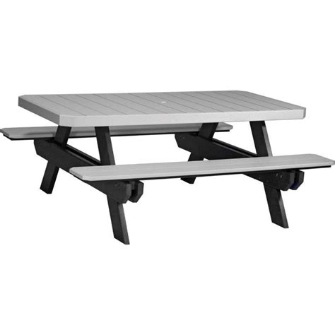 6 foot rectangular table poly 6 foot rectangle picnic table
