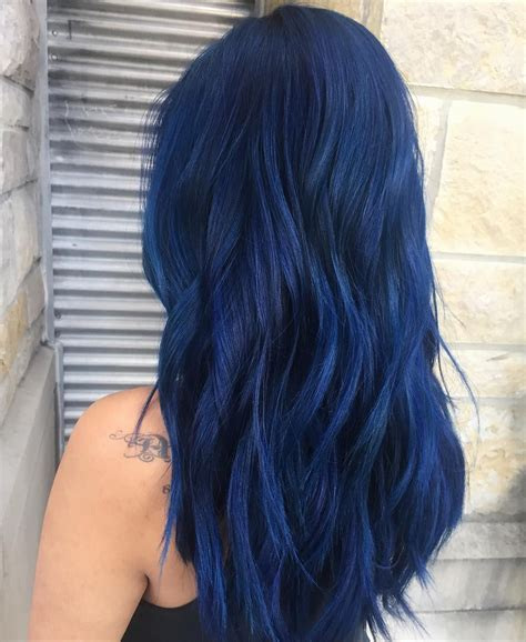 black and blue hair color pin by parks on hair in 2019 blue hair hair
