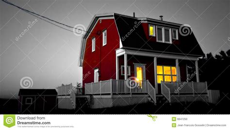 light yellow house red house yellow light stock photo image 6647250