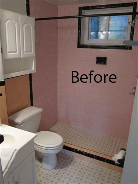 Bathroom Tile Makeover by Small Bathroom Makeover