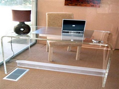 clear acrylic desk 18 sleek acrylic computer desk designs for small home office