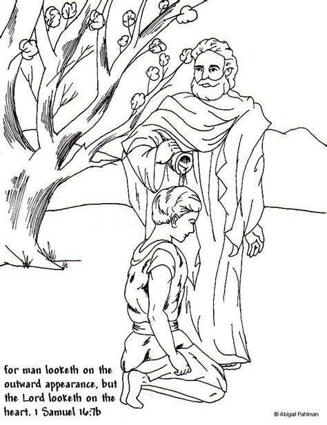 Free Coloring Pages Of Samuel Anointing David Samuel Coloring Pages From The Bible