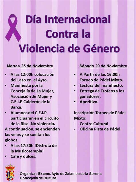 imagenes dia contra violencia de genero gran variedad de actividades previstas para el d 237 a