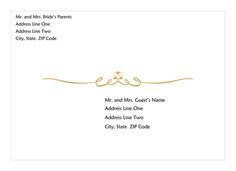 Wedding Invitation Label Template by Invitations Office