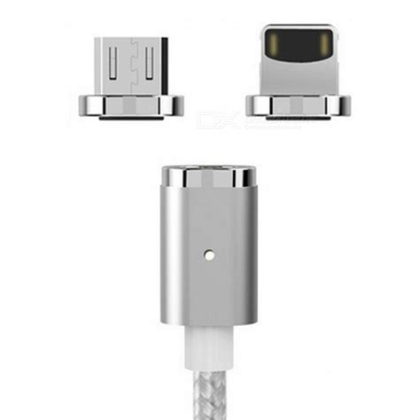 Wsken Xcable Magnetic Adhesion Charging Cable wsken xcable mini 2 magnetic cable with micro usb iphone adapter free shipping dealextreme