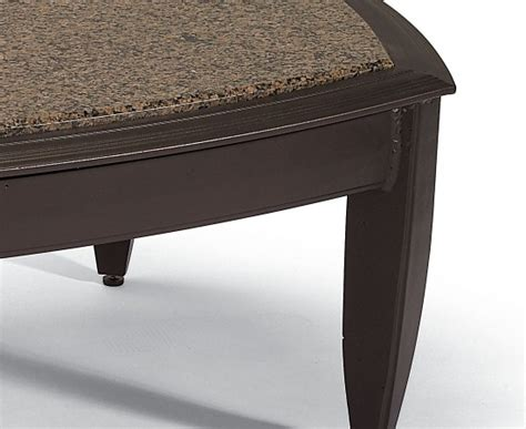 Granite End Table by Coffee End Table Set Granite And Aluminum Patio Tropitone