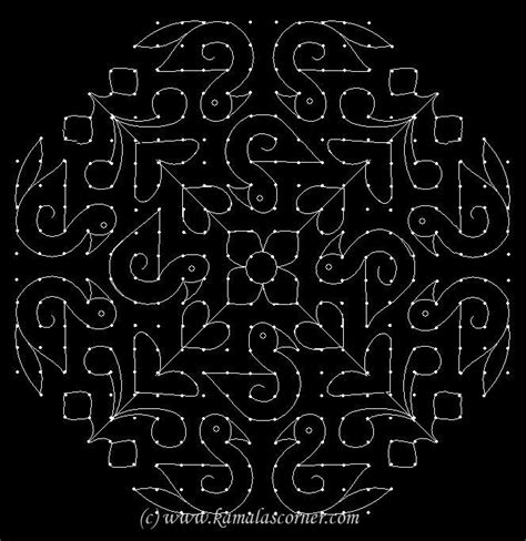 Dot Kolangal Pattern | kolangal kolam no 392 rangoli pinterest dots