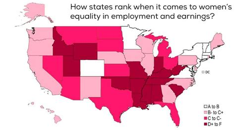best states to work in best and worst states for women to work in america