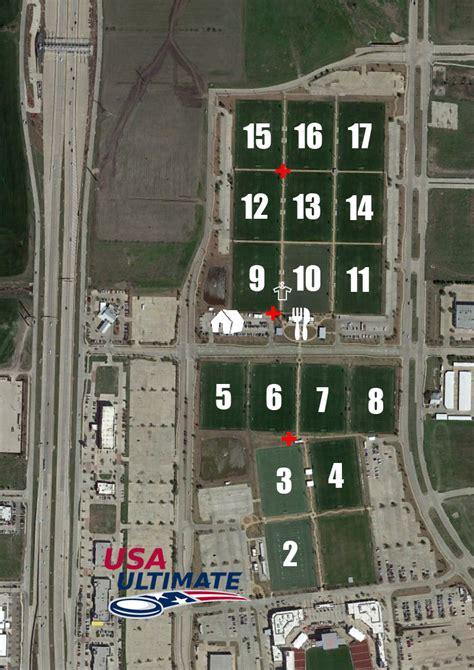 toyota center dallas event field map play usa ultimate