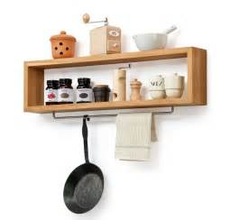 diy wooden kitchen shelf with rail by