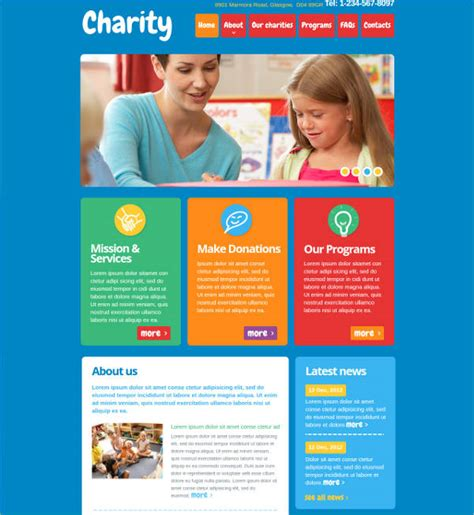 23 Charity Website Themes Templates Free Premium Templates Charity Web Templates