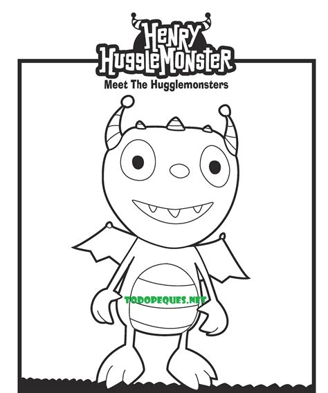 imagenes para colorear henry monstruito dibujos para colorear de henry el monstruito todo peques