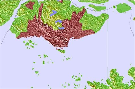 satellite map of singapore singapore location guide