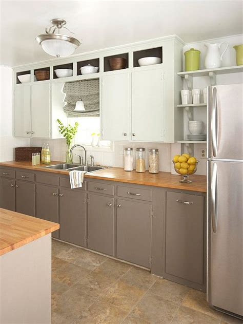 shelves above kitchen cabinets small kitchens cabinets and countertops on pinterest