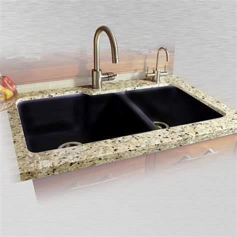 Ceco Kitchen Sinks Ceco Huntington 737 36 Quot X 22 Quot X 10 Quot Cast Iron Offset 60 40 Undermount Kitchen Sink At