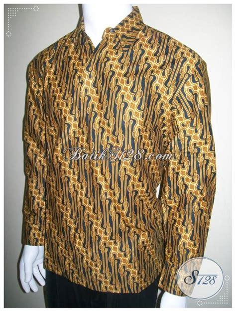 Murah Kemeja Hem Baju Batik Pria Hitam Arka Terbaru baju kemeja batik pria lengan panjang motif parang hem
