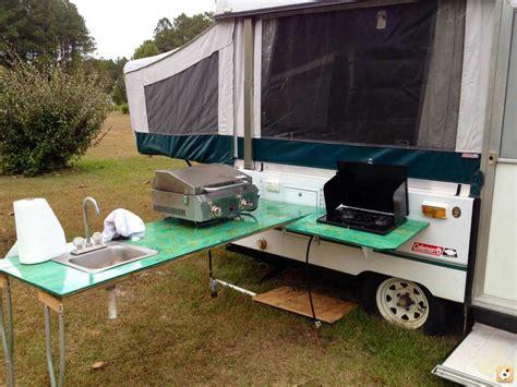 cer trailer kitchen ideas rv dream girl outside kitchen for tent trailers pop ups