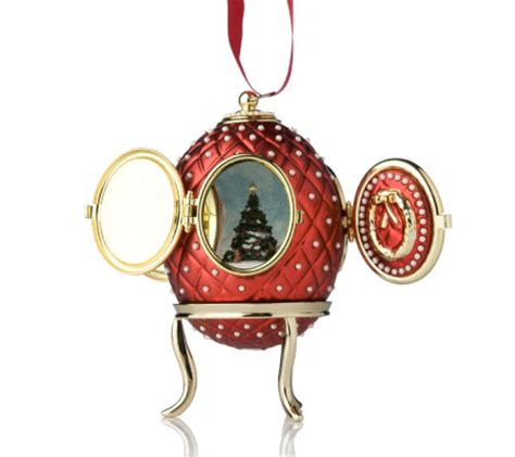 musical egg ornaments from qvc mr valerie parr hill musical hanging egg ornament qvc uk