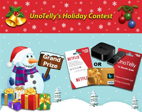 Canadian Sweepstakes And Contests - unotelly holiday contest canadian contests sweepstakes and surveys contests