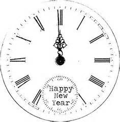 printable new years eve clock printable clothesline coloring pages google search