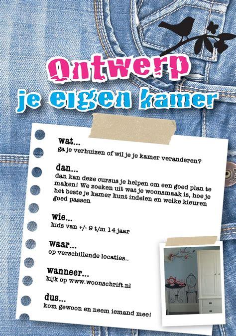 Maak Je Eigen Kamer by Flyer Workshop Voor Ontwerp Je Eigen Kamer Frisse