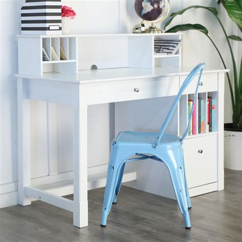 White Company Desk by Walker Edison Furniture Company Clara White Desk With