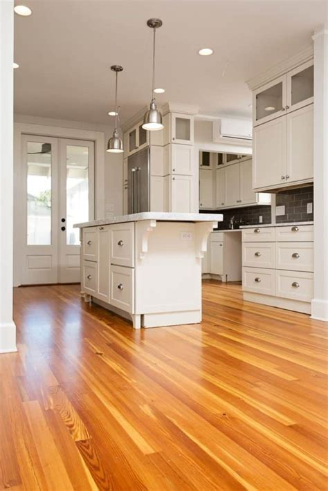 Reclaimed Wood Kitchen Floors Blend with Contemporary Accents