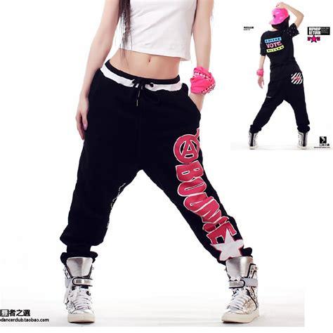 Celana Hip Hop Merah wanita harem kasual olahraga hip hop tari celana longgar capris jpg