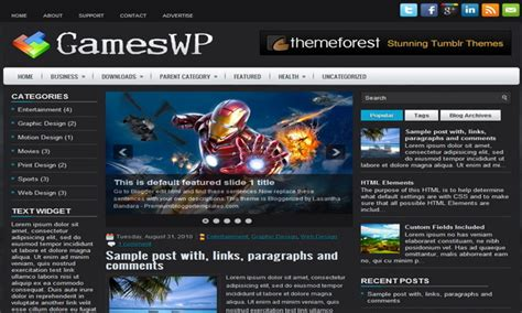 blogger templates free full version gameswp blogger template blogger templates 2018