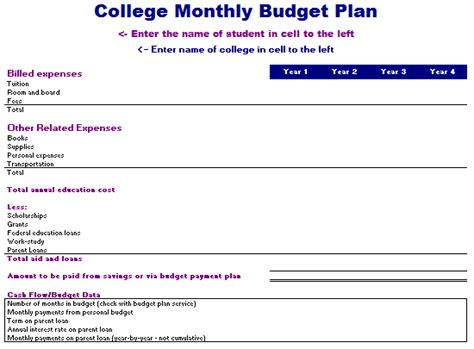 college student budget template college student budget template free driverlayer search