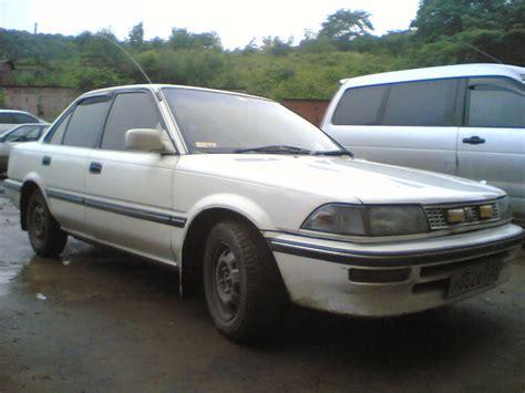 Toyota Corolla 1989 1989 Toyota Corolla Pictures 1500cc Gasoline Ff