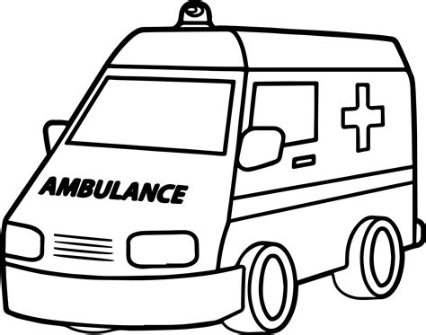 ambulance coloring pages ambulance coloring pages