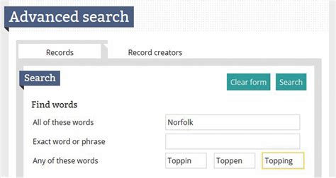 Search Uk Records Toolkit Tutorial Search For Uk Records In The Discovery Catalog Family Tree